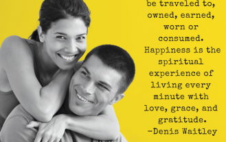 Happiness cannot be traveled to, owned,